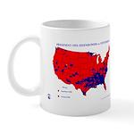 President 1952 County Map Mug-Red