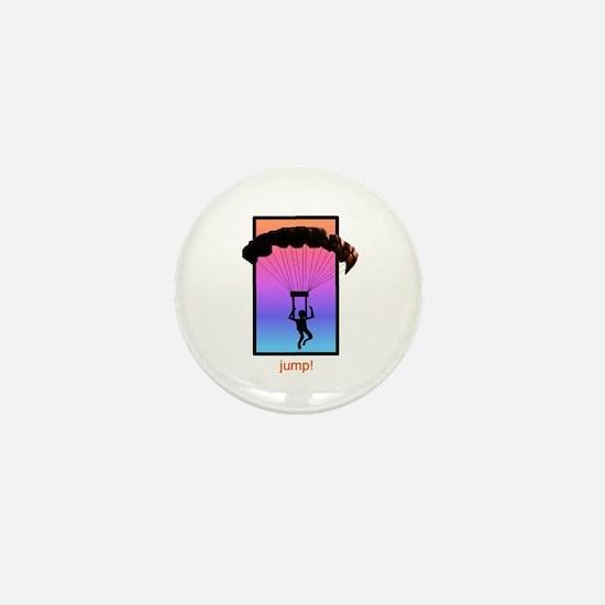 Sunset Skydiver Mini Button