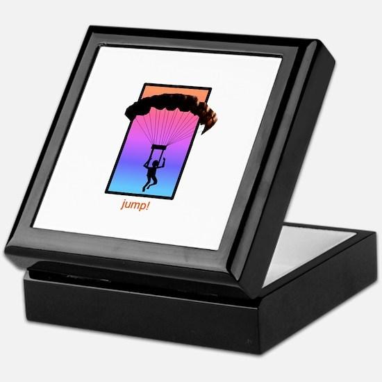 Sunset Skydiver Keepsake Box