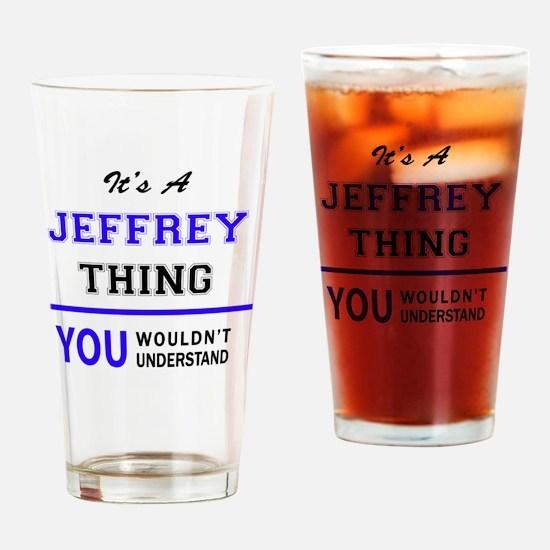 Cute Jeffrey Drinking Glass
