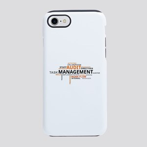 word cloud - audit management iPhone 7 Tough Case