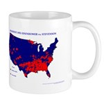 President 1952 County Map Mug-Blue