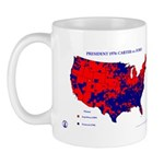President 1976 County Map-Red