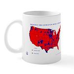 President 1988 County Map Mug-Red