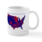 President 1988 County Map Mug-Blue