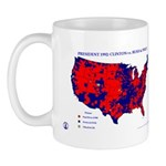 President 1992 County Map Mug-Red