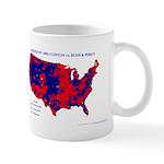 President 1992 County Map Mug-Blue