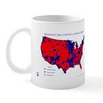 President 1996 County Map Mug-Red