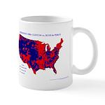 President 1996 County Map Mug-Blue