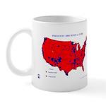 President 2000 County Map Mug-Red