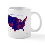 President 2000 County Map Mug-Blue