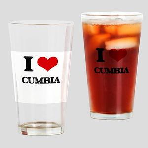 I Love CUMBIA Drinking Glass