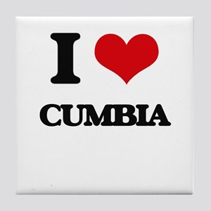 I Love CUMBIA Tile Coaster