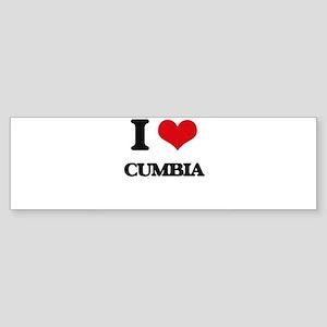 I Love CUMBIA Bumper Sticker