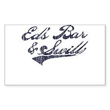 Ed's Bar & Swill (Distressed) Sticker (Rectangular