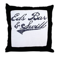 Ed's Bar & Swill (Distressed) Throw Pillow