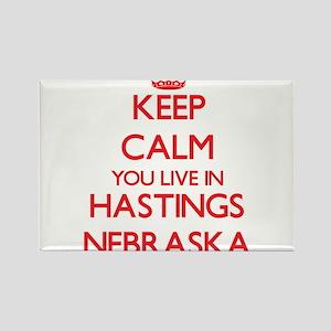 Keep calm you live in Hastings Nebraska Magnets