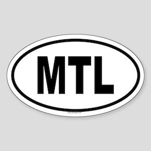 MTL Oval Sticker