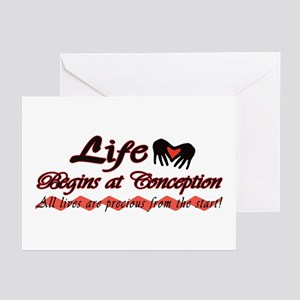 Life Begins Greeting Cards (Pk of 10)