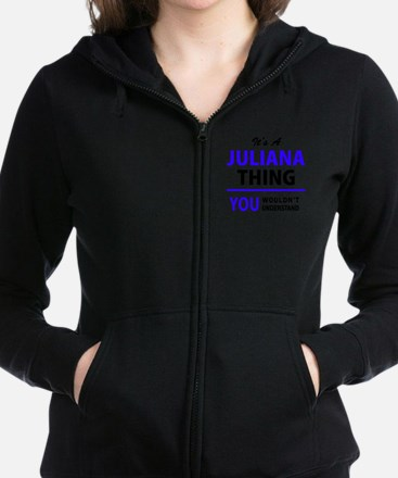 Cute Juliana Women's Zip Hoodie