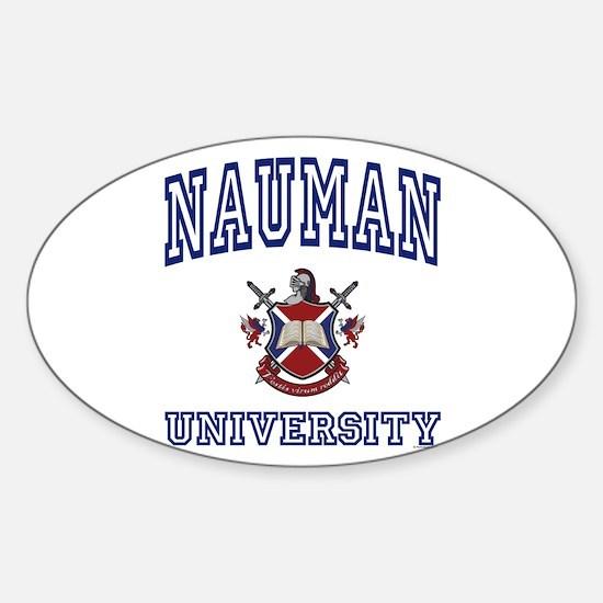 NAUMAN University Oval Decal