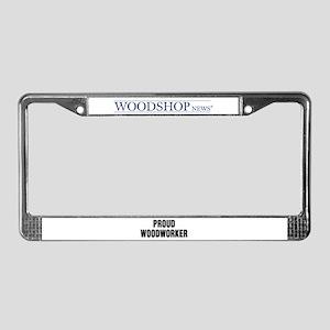 Woodshop News License Plate Frame