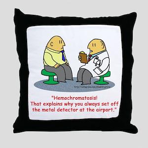 Hemochromatosis Throw Pillow