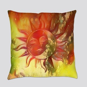 Blissful Sun Moon Everyday Pillow