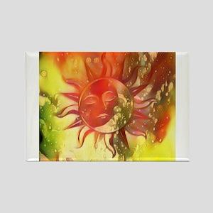 Blissful Sun Moon Magnets
