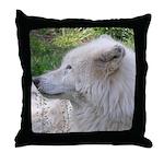 White Wolf Throw Pillow #2