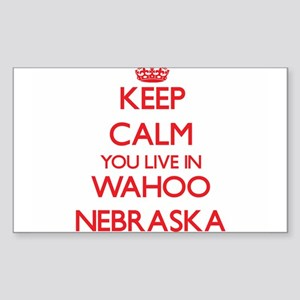 Keep calm you live in Wahoo Nebraska Sticker