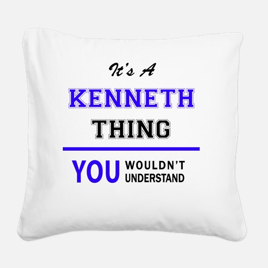Cute Kenneth Square Canvas Pillow