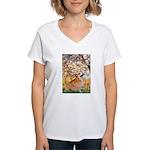 Spring / Corgi Women's V-Neck T-Shirt