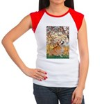 Spring / Corgi Women's Cap Sleeve T-Shirt