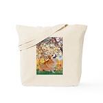 Spring / Corgi Tote Bag