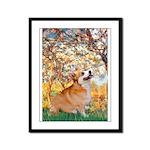 Spring / Corgi Framed Panel Print