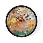 Spring / Corgi Wall Clock