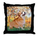 Spring / Corgi Throw Pillow