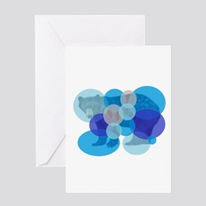 BEAR BUBBLED Greeting Cards