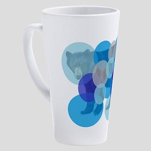 BEAR BUBBLED 17 oz Latte Mug