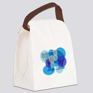 BEAR BUBBLED Canvas Lunch Bag
