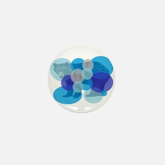 BEAR BUBBLED Mini Button