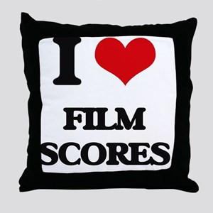 I Love FILM SCORES Throw Pillow