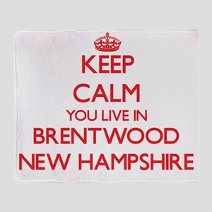 Keep calm you live in Brentwood New Throw Blanket