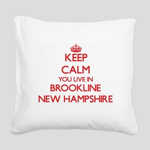 Keep calm you live in Brookli Square Canvas Pillow
