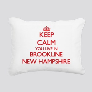 Keep calm you live in Br Rectangular Canvas Pillow