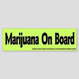 Marijauna On Board - Revenge Sticker