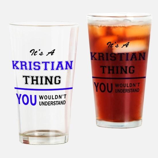 Cute Kristian Drinking Glass