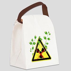 against nuclear power Canvas Lunch Bag