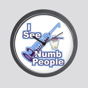 I See NUMB People! Novocaine Wall Clock